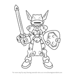 How to Draw Pretty Prime from Medabots