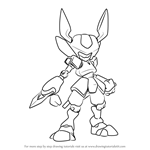 How to Draw Rokusho from Medabots