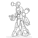 How to Draw Saikachi from Medabots