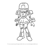 How to Draw Sailormate from Medabots