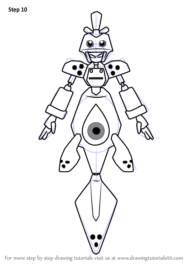 Learn How To Draw Saldron From Medabots Medabots Step By