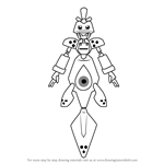 How to Draw Saldron from Medabots