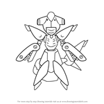 How to Draw Sharkkan from Medabots