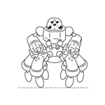 How to Draw Spidar from Medabots