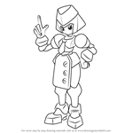 How to Draw Twinkle from Medabots