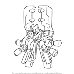 How to Draw Tyrelbeetle from Medabots