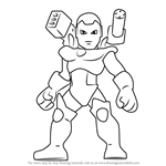 How to Draw War Machine from The Super Hero Squad Show