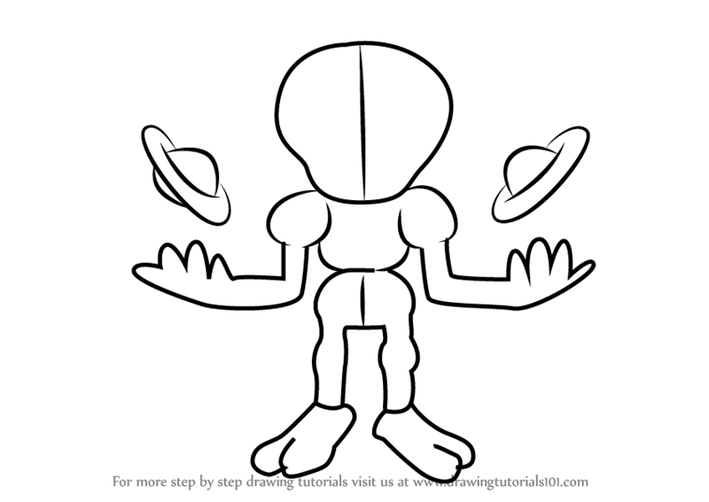 Learn How to Draw Wire-Alien from Medabots (Medabots) Step by Step ...