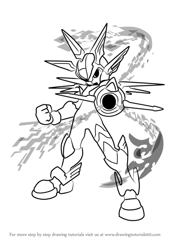 Learn How To Draw Copy X From Mega Man Zero Mega Man Zero Step By