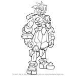 How to Draw Craft from Mega Man Zero