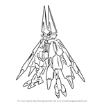 How to Draw Hellbat Schilt from Mega Man Zero