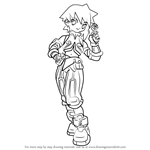 How to Draw Neige from Mega Man Zero