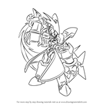 How to Draw Omega from Mega Man Zero