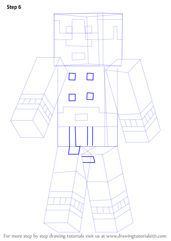 Learn How to Draw Magnus from Minecraft (Minecraft) Step ...
