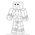 How to Draw Magnus from Minecraft