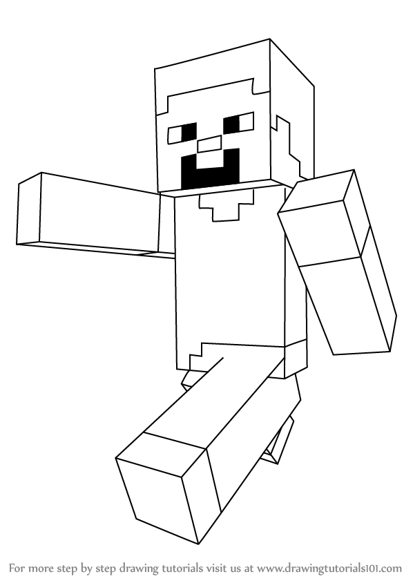 Learn how to draw steve from minecraft minecraft step by step drawing tutorials