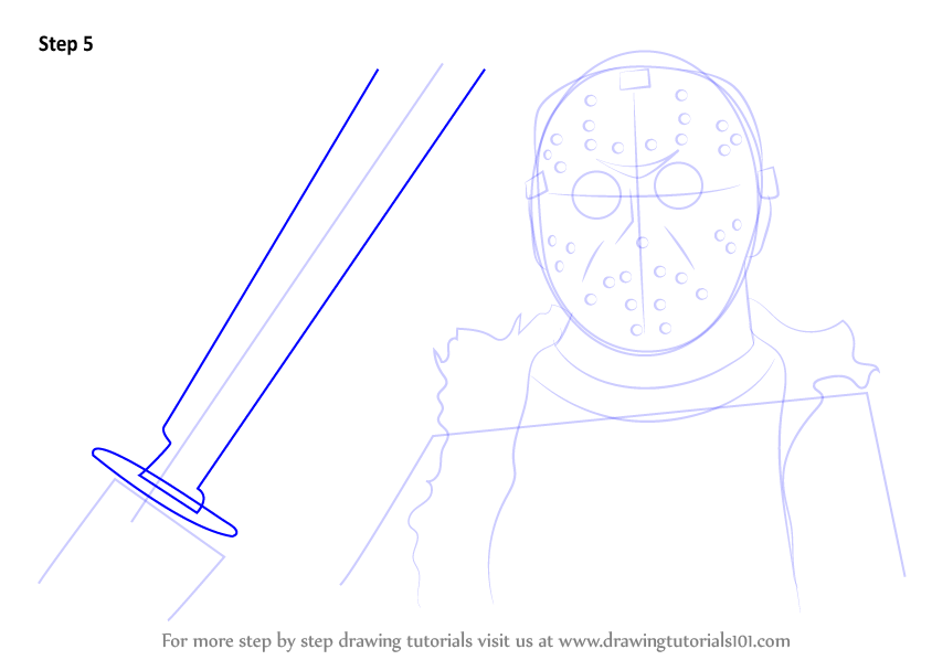 Step by Step How to Draw Jason