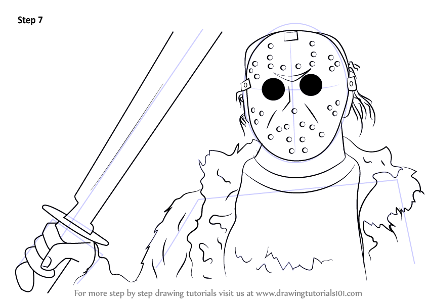 Step by Step How to Draw Jason Voorhees from Mortal Kombat ...