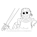 How to Draw Jason Voorhees from Mortal Kombat X