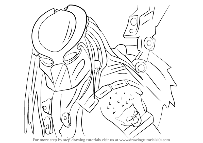 predator vs jason coloring pages - photo#12