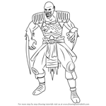 How to Draw Baraka from Mortal Kombat