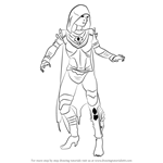 How to Draw D'Vorah from Mortal Kombat