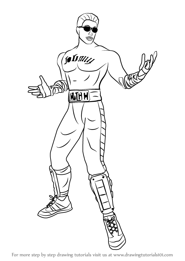Step By Step How To Draw Johnny Cage From Mortal Kombat