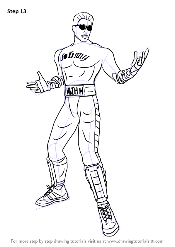 Learn How To Draw Johnny Cage From Mortal Kombat Mortal