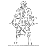 How to Draw Kabal from Mortal Kombat