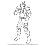 How to Draw Kurtis Stryker from Mortal Kombat