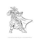 How to Draw Raiden from Mortal Kombat