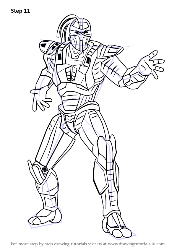 Learn How To Draw Sektor From Mortal Kombat Mortal Kombat