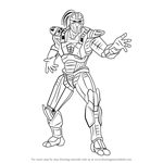 How to Draw Sektor from Mortal Kombat