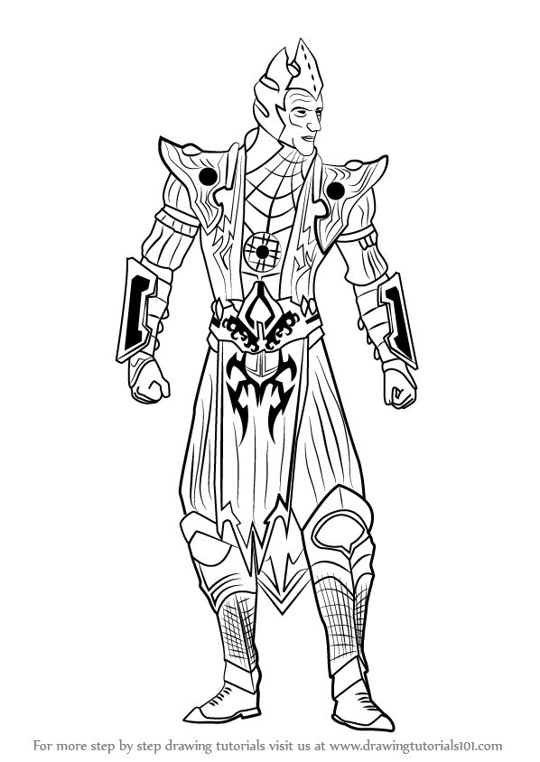 Step By Step How To Draw Shinnok From Mortal Kombat