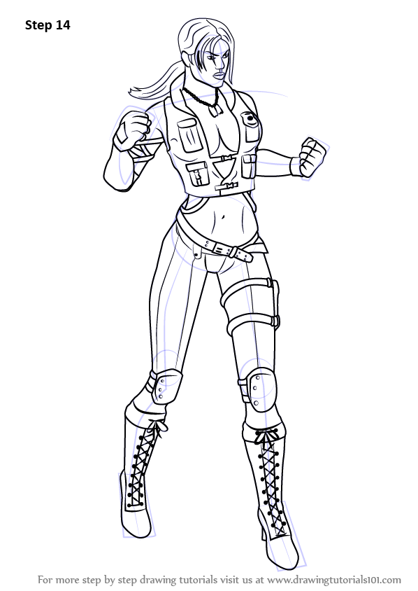 Learn How To Draw Sonya Blade From Mortal Kombat Mortal