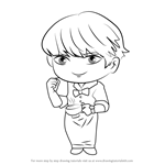 How to Draw Barista Guest from Mystic Messenger