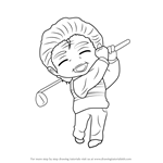 How to Draw Golf Guest from Mystic Messenger