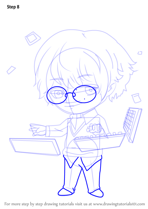 Learn How To Draw Keyboard Guest From Mystic Messenger Mystic