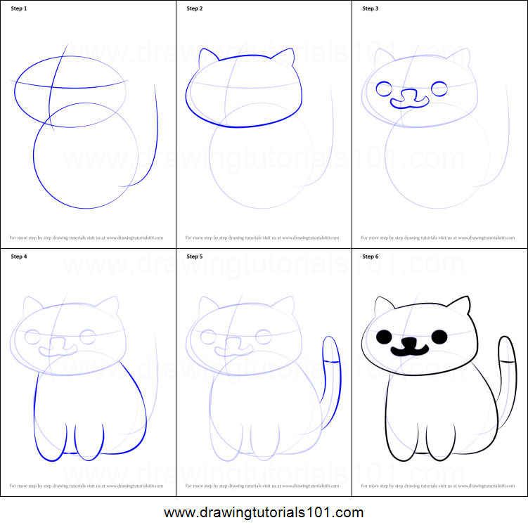 How To Draw Pepper From Neko Atsume Printable Step By Step