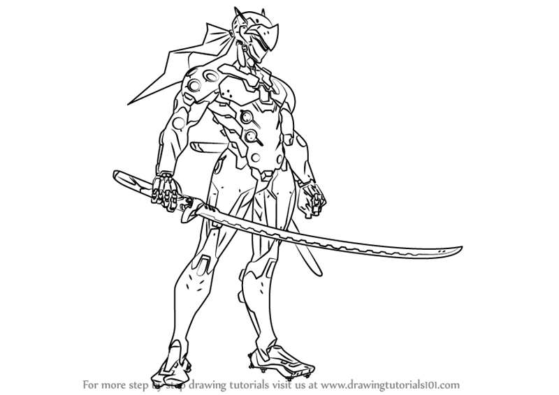 M Overwatch Genji Coloring Pages Coloring Pages