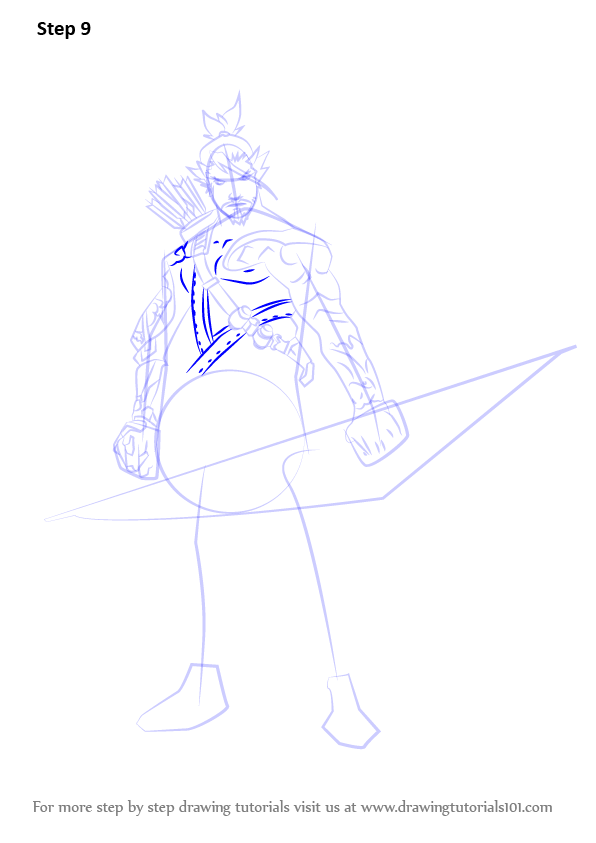 Learn How to Draw Hanzo from Overwatch