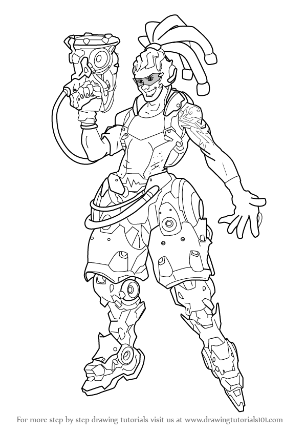 Overwatch genji coloring pages coloring pages for Overwatch coloring pages