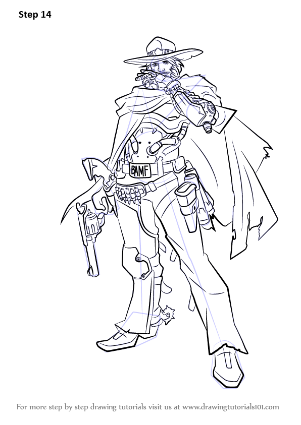 Learn How to Draw McCree from Overwatch