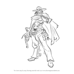 How to Draw McCree from Overwatch