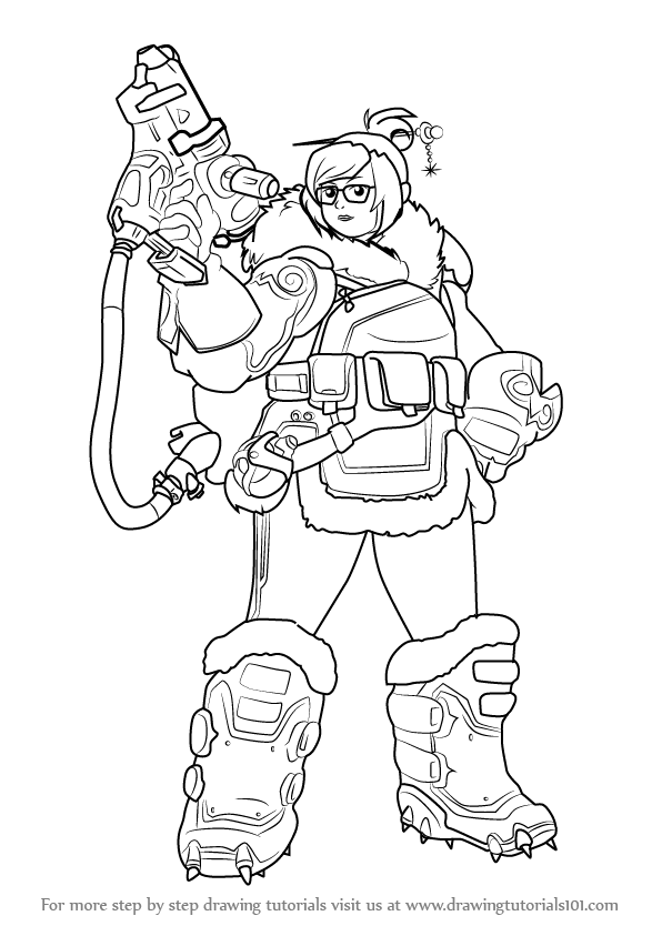 Learn How To Draw Mei From Overwatch Overwatch Step By