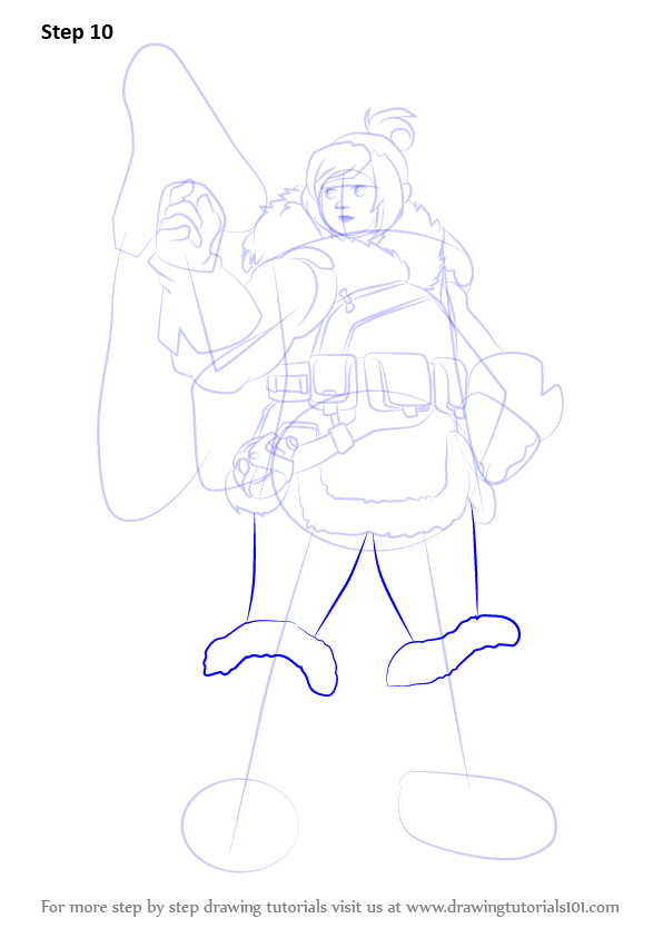 Step By Step How To Draw Mei From Overwatch