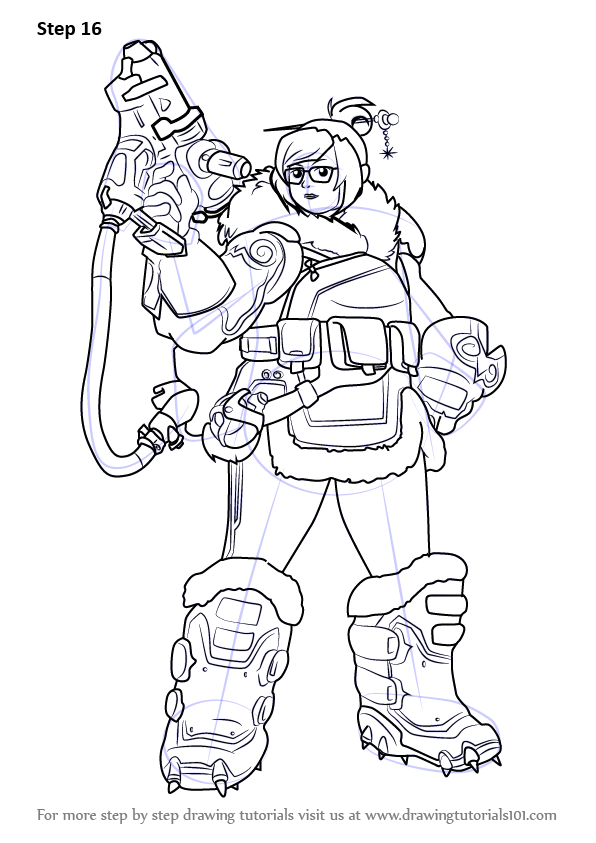 Learn how to draw mei from overwatch overwatch step by for Overwatch coloring pages