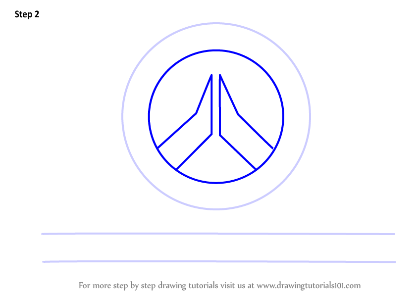Learn how to draw overwatch logo overwatch step by step for Draw my logo