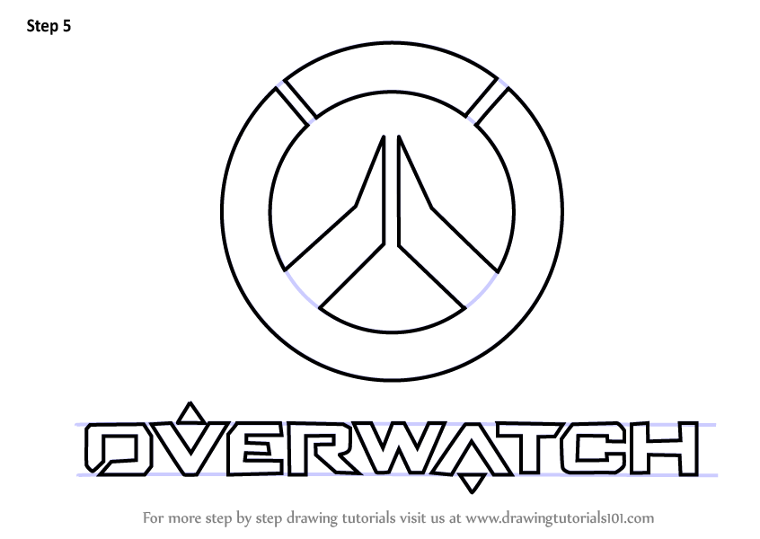 Learn how to draw overwatch logo overwatch step by step for Draw logo free