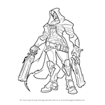 How to Draw Reaper from Overwatch